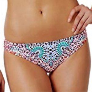 NWT BarIII Atltas Mosaic Teal Coral Bikini Bottom